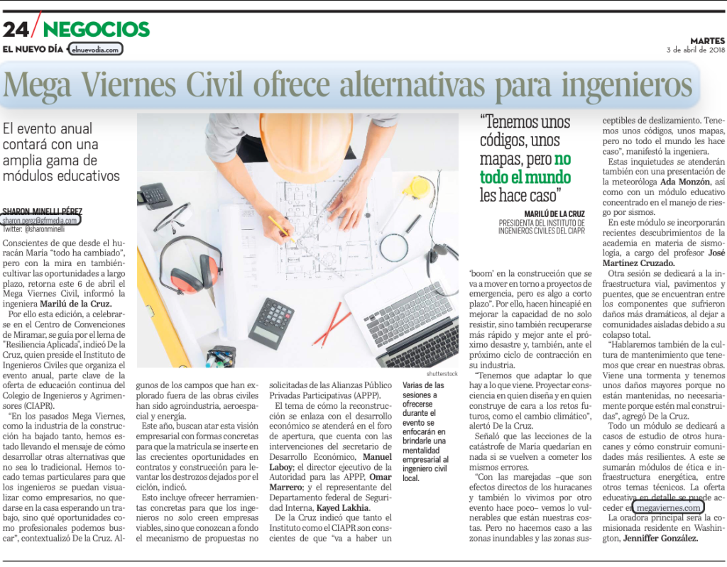 Noticia ENDI MVC ofrece alternativas para ingenieros